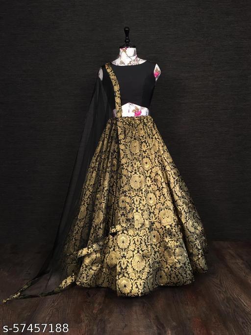 Chidiya Designer  Women's Silk Semi-stitched Lehenga Choli