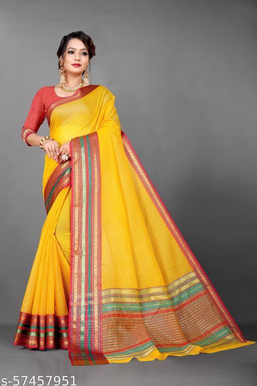 Self Design Manipuri Cotton Blend Saree