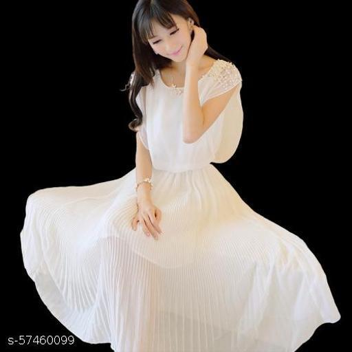 Women's Synthetic a-line Knee-Long Dress
