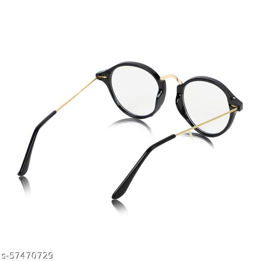 UV Protection, Riding Glasses Oval Sunglasses (43)  (For Men & Women, Clear)