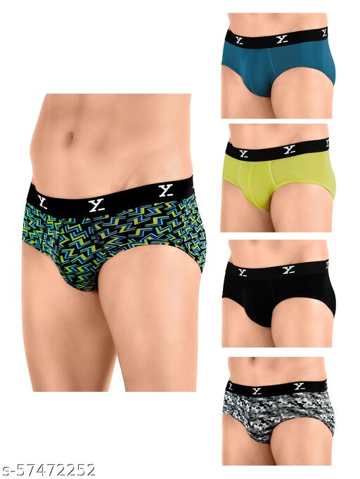 XYXX IntelliSoft Antimicrobial TENCEL Modal Premium Ace Shuffle Brief For Men (Pack of 5)