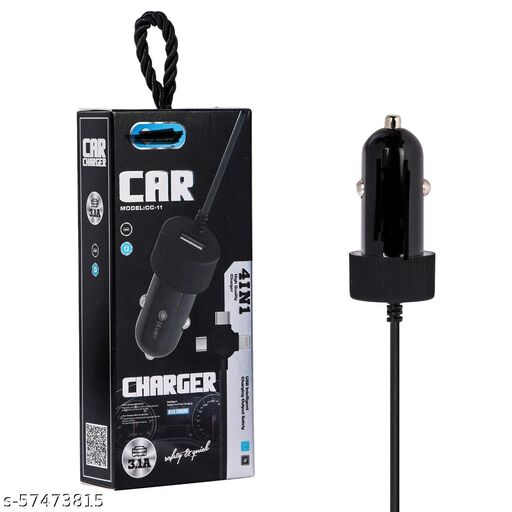 Car Charger With Four in One wire