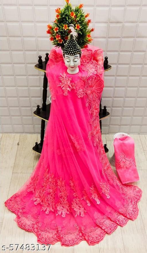 net silk sadi new designer party bandhani printed daily bollywood red pink blue green orange chiku purple