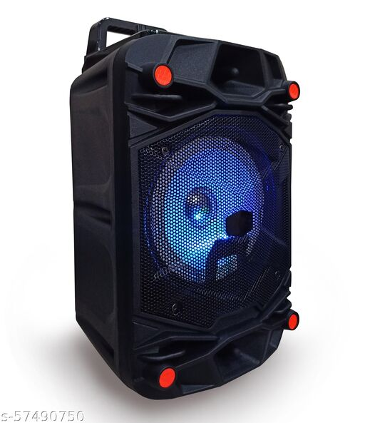 Best Selling Trolley Speaker with Karaoke Mic 40 Watt Bluetooth Wireless Bluetooth Speaker With wired mic/MIni Home Theater , Portable Speaker, With USB/TF/AUX/FM/BT, Party Speaker with LED Lights, Shock-Proof and Splash Proof, with Thumping Bass, Long Battery Life
