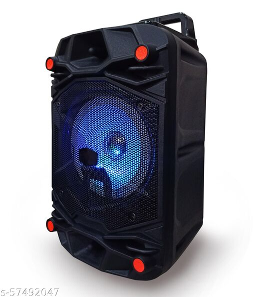 Top Branded  Trolley Speaker with Karaoke Mic 40 Watt Bluetooth Wireless Bluetooth Speaker With wired mic/MIni Home Theater , Portable Speaker, With USB/TF/AUX/FM/BT, Party Speaker with LED Lights, Shock-Proof and Splash Proof, with Thumping Bass, Long Battery Life