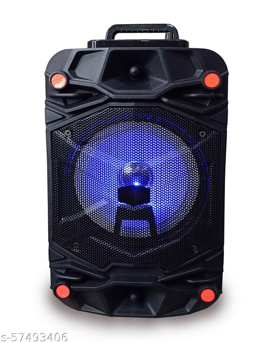 100% Unique Quality  Trolley Speaker with Karaoke Mic 40 Watt Bluetooth Wireless Bluetooth Speaker With wired mic/MIni Home Theater , Portable Speaker, With USB/TF/AUX/FM/BT, Party Speaker with LED Lights, Shock-Proof and Splash Proof, with Thumping Bass, Long Battery Life