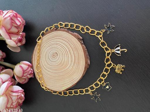 Kalakari chunky golden chain with charms