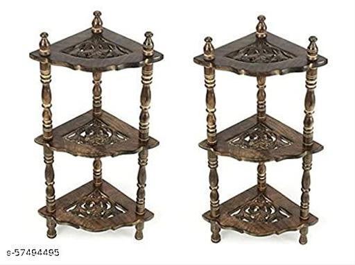 Amirami Wooden Mini Corner Shelf