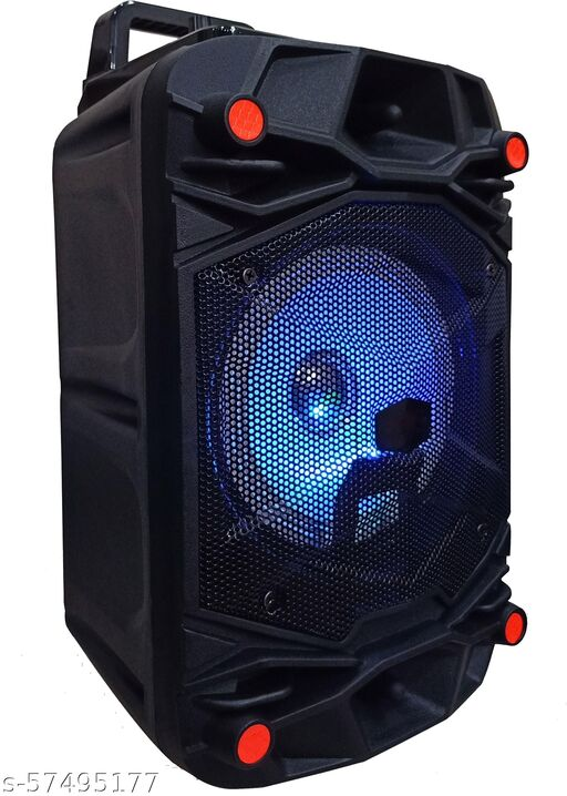 Best Quality  Trolley Speaker with Karaoke Mic 40 Watt Bluetooth Wireless Bluetooth Speaker With wired mic/MIni Home Theater , Portable Speaker, With USB/TF/AUX/FM/BT, Party Speaker with LED Lights, Shock-Proof and Splash Proof, with Thumping Bass, Long Battery Life