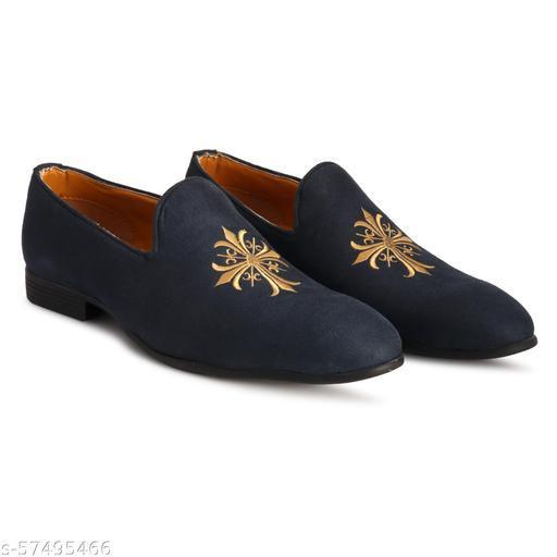 Cobblerstone blue suede loafer shoes for men