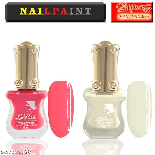 La Perla Guitar Nail Paint set of 2 (Pink & White)