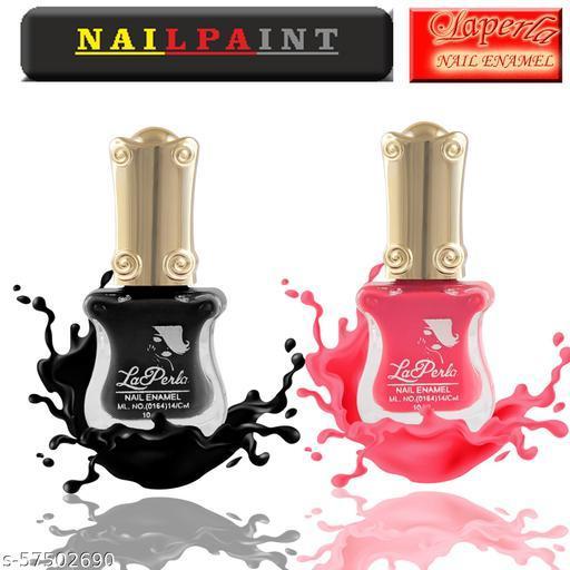La Perla Guitar Nail Paint set of 2 (Pink & Black)