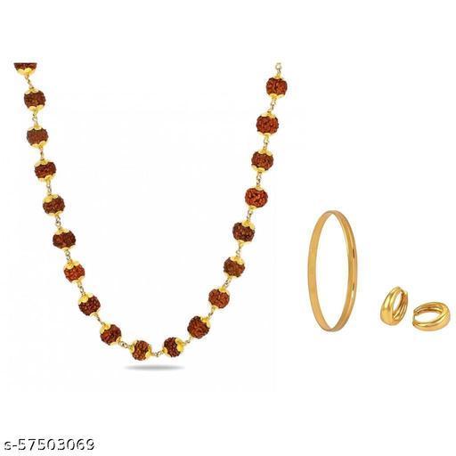 Trendy Chain,Golden Kada With Golden Bali For Mens/Boys( Set Of 3)