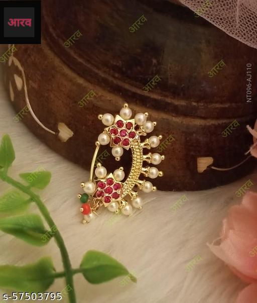 Pink Flower Nosering