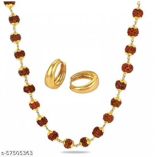 Trendy Chain With Golden Bali For Mens/Boys( Set Of 2)