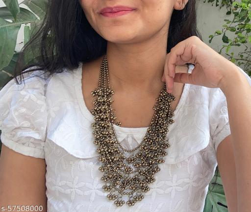 Kalakari layered ghunghroo necklace