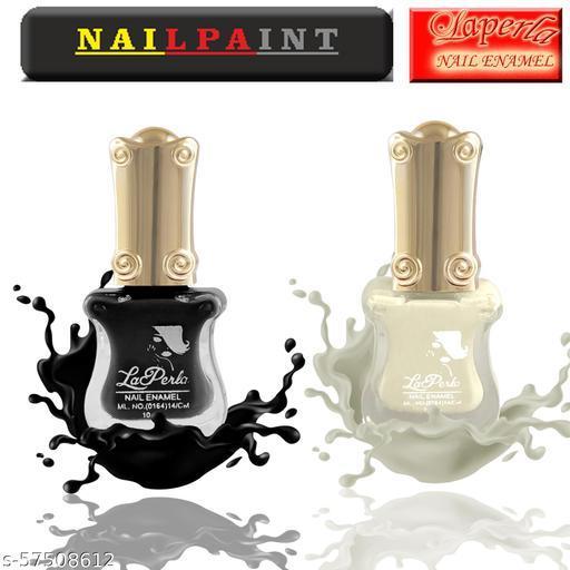 La Perla Guitar Nail Paint set of 2 (Black & White)