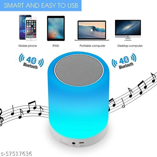 Wireless USB Rechargeable Portable HiFi LED Touch Lamp Bluetooth Speaker Light
