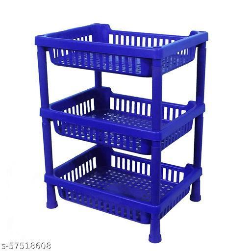 Multipurpose Plastic Storage Rack Oraganiser - 3 pcs