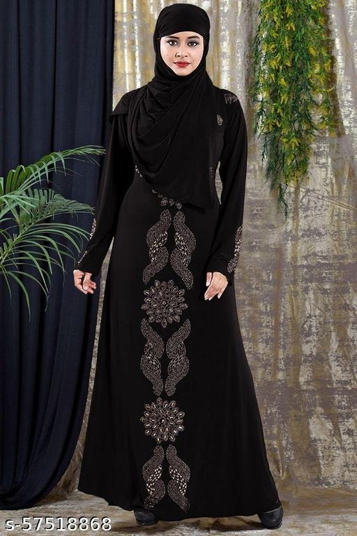 Women's Abaya Satin Silk Burqa With Hijab