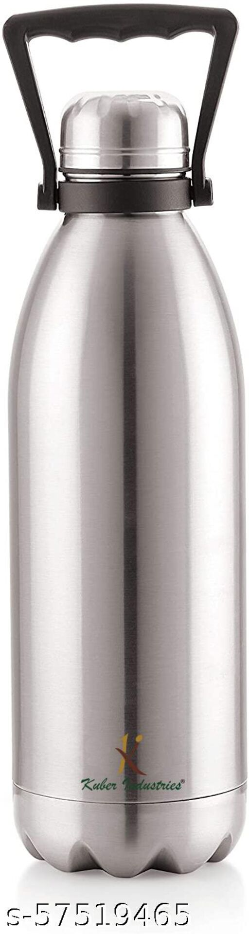 Kuber Industries Stainless Steel 24 Hours Plus Hot And Cold Water Bottle, 2.2 Litre (Silver)