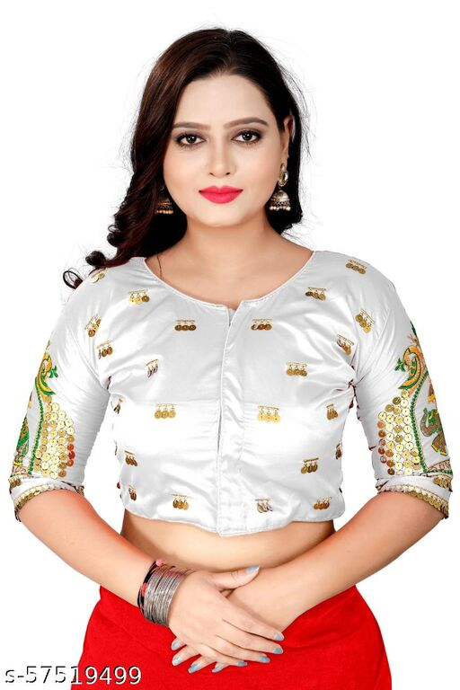EMBRODERY WORKED STICHED WOMEN BLOUSE WITH FANCY DEGINEN
