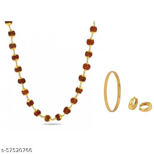 Trendy Chain,Kada With Golden Bali For Mens/Boys(Set Of 3)