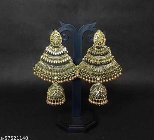 oxidised gold earrings