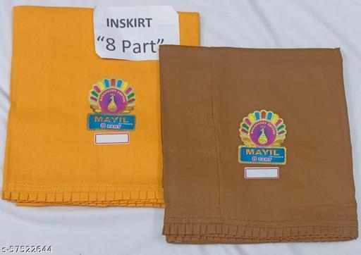 Womens cotton inskirt with 8 part Frill bottom end Petticoats