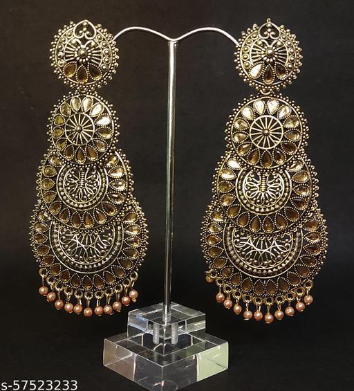 oxidised earrings gold plated