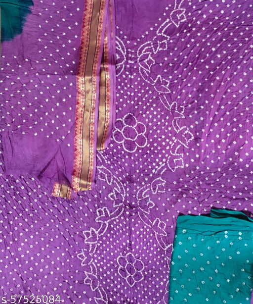 Trendy Cotton Satin Suit & Dress Material