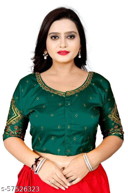 ATTRACTIVE WORKED GUJRATI BLOUSE FOR WOMEN