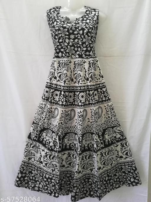 women's cotton fabric  gown (B&W)