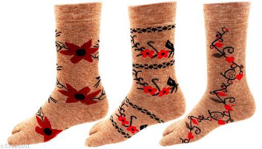 Women's Warm Terry Wool Thick Thumb Socks WINTER SOCKS Pack of 3 Pairs