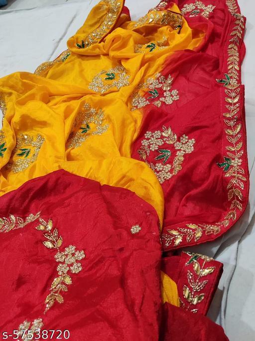 Fancy 2 dye hand work Saree