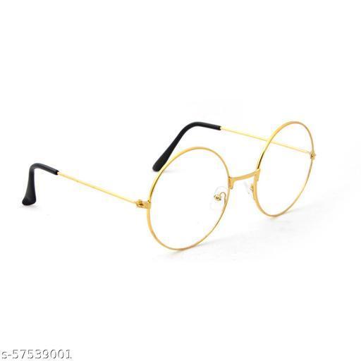 Momentum Clear Round Glasses   Boys & Girls   Golden Frame   UV Protection   MM-102