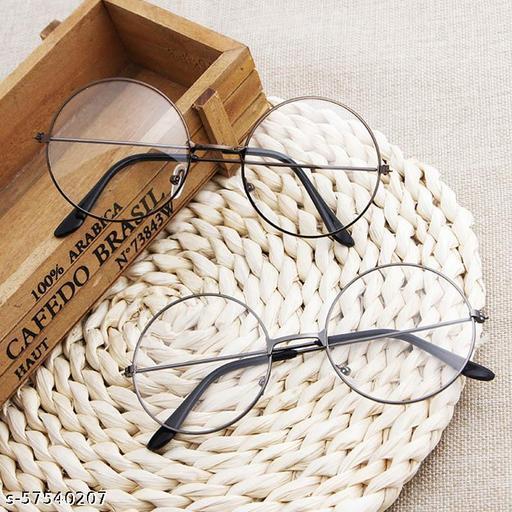 Momentum Sunglasses Round Clear Lens   Boys & Girls   Black & Silver Frame   UV Protection   MM-106