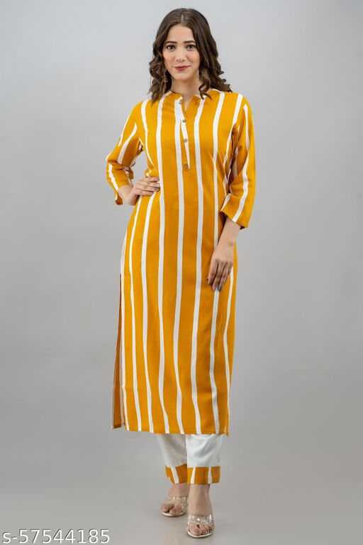 D D Fashion Printed Rayon Kurta
