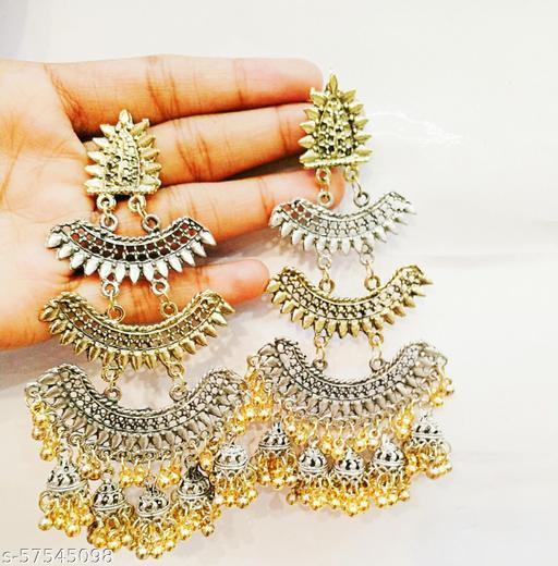 Earrings & Studs Dual Tone Layered Earrings