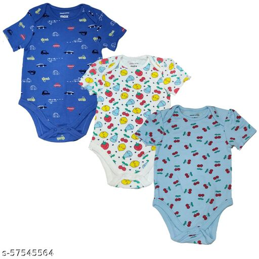 Kids Cute Rompers Combo of 3 100% Cotton