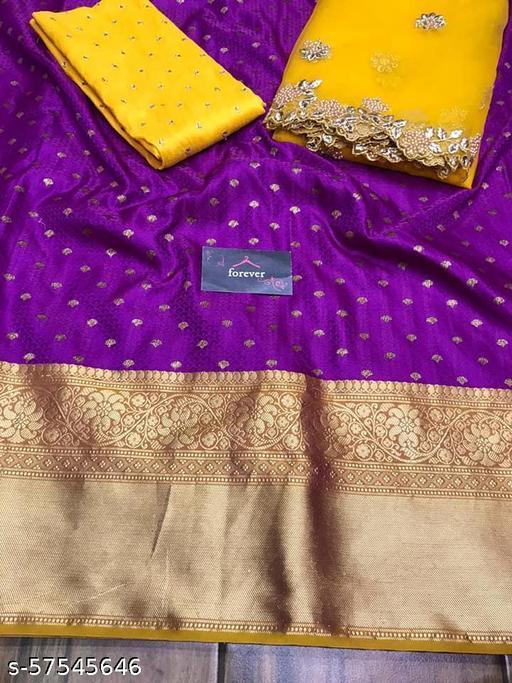 VAIDRAJ Kanjiveram Silk Zari lehanga with blouse along with cutwork Duppta HALF SAREE