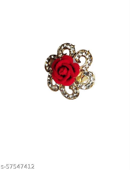 Radler Jewellery  Fashion Stylish Fancy Party Wear rings for Women's & Girl's ( Rose )