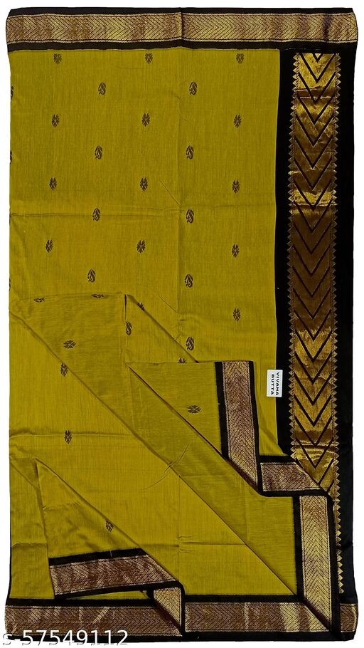 Paul Bastralaya women soft silk Gadwal  butta work Traditional saree with runing blouse piece-(001)