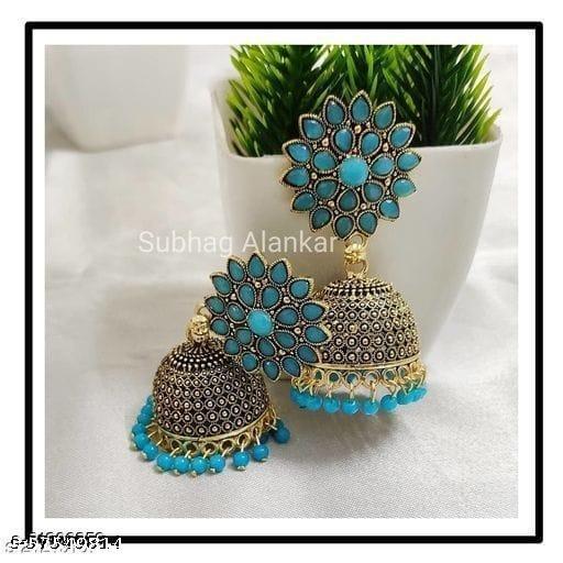 Radler Beautiful Jewellery  Fashion Stylish Fancy Party Wear Jhumka Earings for Women's & Girl's / blue