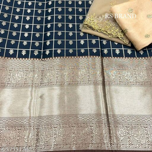 VINTAGESTUFF Kanjiveram Silk Zari lehanga with blouse along with cutwork Duppta HALF SAREE
