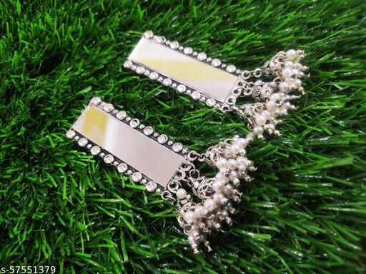 Mirror 3Jhumka Earrings