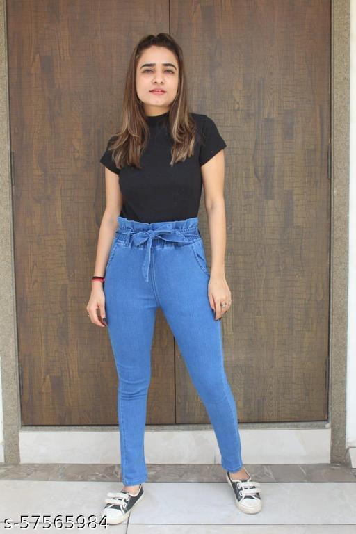 Denim raffle jeans