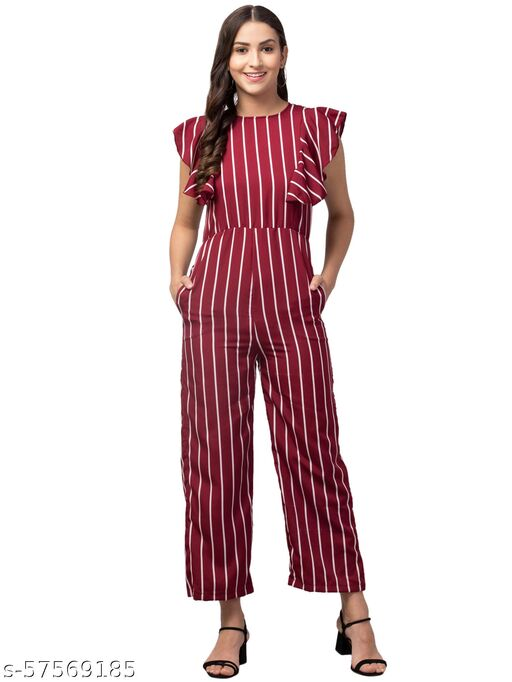 Fancy Lining Trendy Crepe fabric Jumpsuit for women and Girls