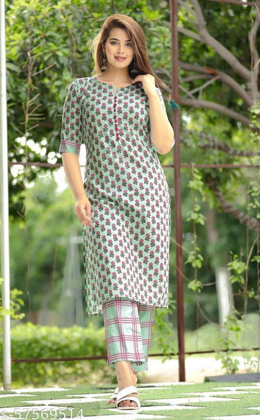 N-2 Pure cotton women Kurta Pant set Sara Ali