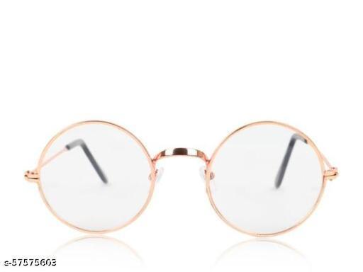 UV Protected Round Unisex Sunglasses (Clear , Medium)